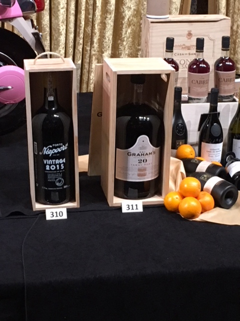 Wines for auction at Bacchanalia Gala Dinner and Auction
